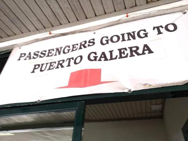 プエルトガレラ行きのターミナル