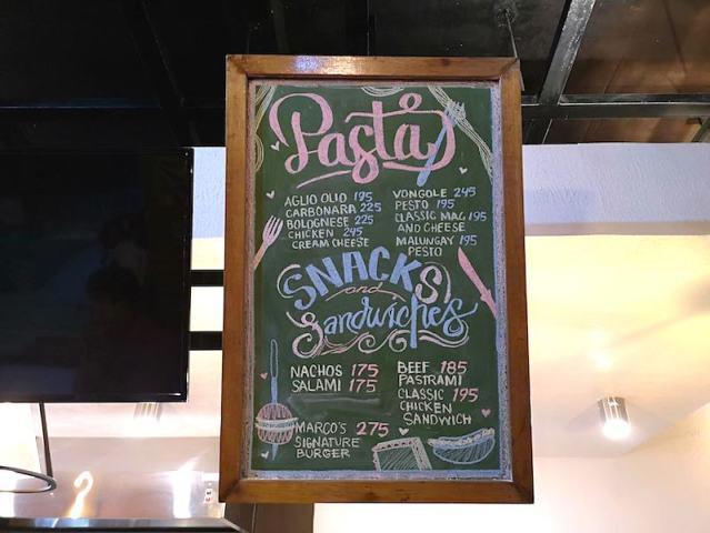 プエルトガレラのオススメのカフェのメニューのパスタ