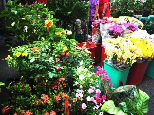 サルセドサタデーマーケットの花屋