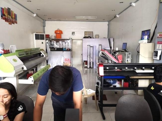 フィリピンの印刷屋