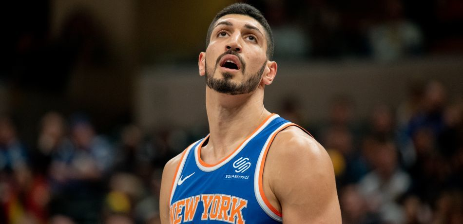 Enes Kanter during a game for the Knicks