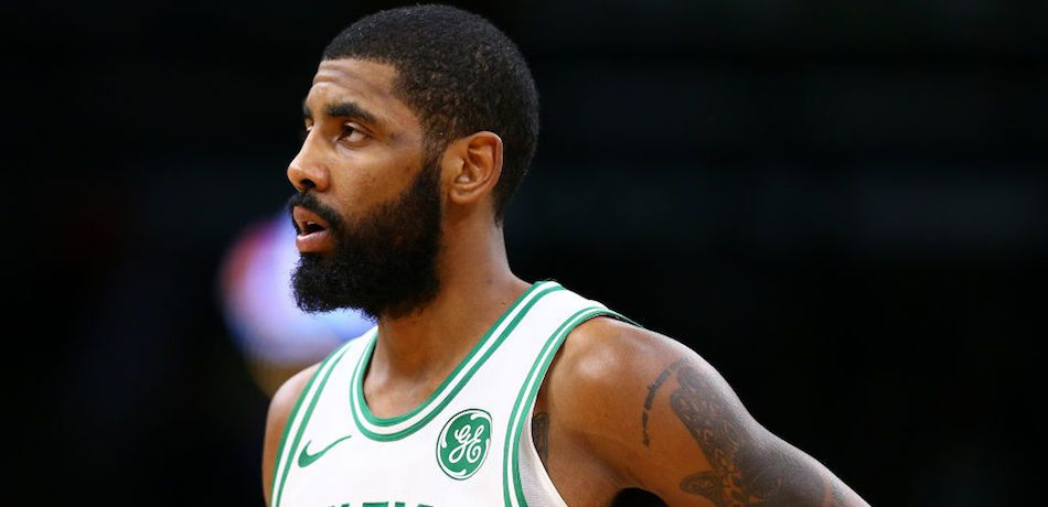 Kyrie Irving #11 of the Boston Celtics looks on during the first half of the game against the Indiana Pacers at TD Garden on January 09, 2019 in Boston, Massachusetts.