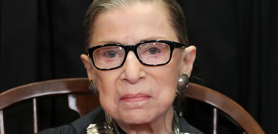 United States Supreme Court Associate Justice Ruth Bader Ginsburg poses for the court's official portrait in the East Conference Room at the Supreme Court building November 30, 2018 in Washington, DC.
