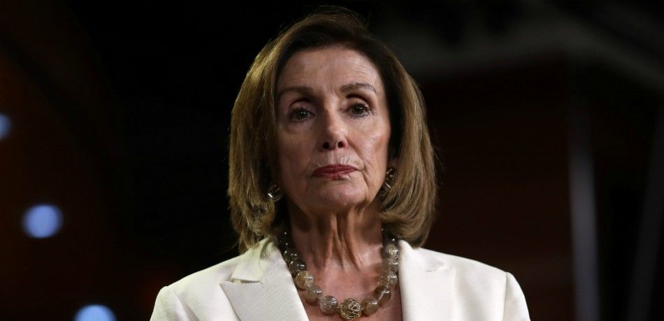 Speaker of the House Nancy Pelosi answers questions during a press conference.