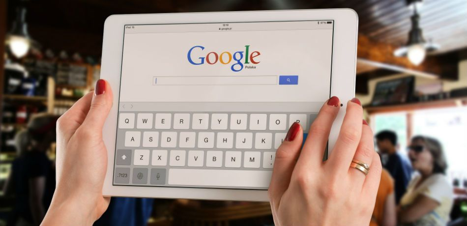 a user accesses google on their device