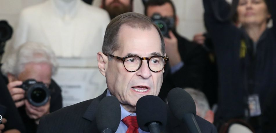 House Judiciary Committee chairman Jerrold Nadler speaks to the media in the Longworth House Office Building on Capitol Hill.