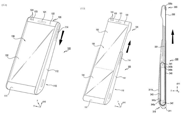 Samsung patent shows rollable phone displays