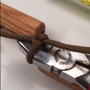 Using the line tool, tighten your knot.