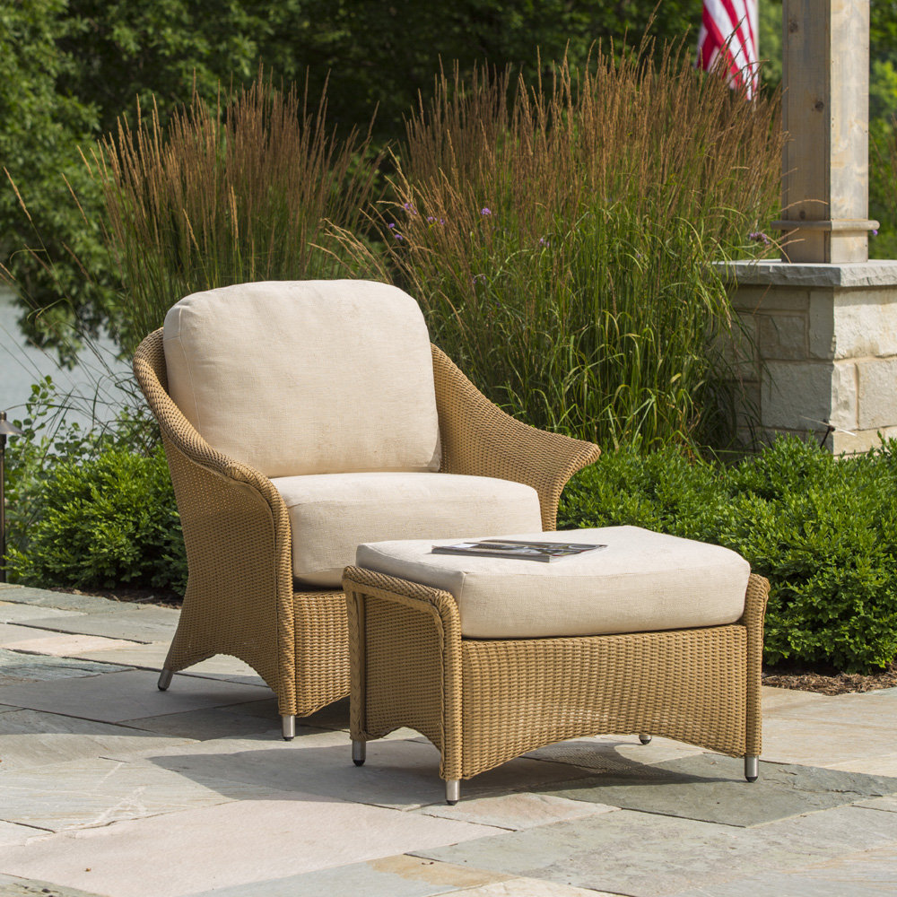 Outside Lounge Chairs Lloyd Flanders Generations Wicker Lounge Chair And Ottoman Set