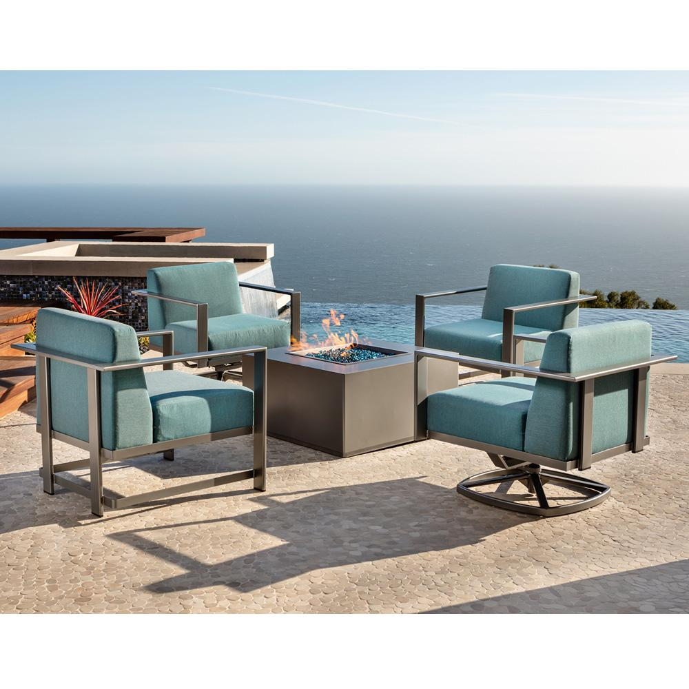 Lounge Chair Patio Ow Lee Studio Lounge Chair Patio Set With Square Fire Table