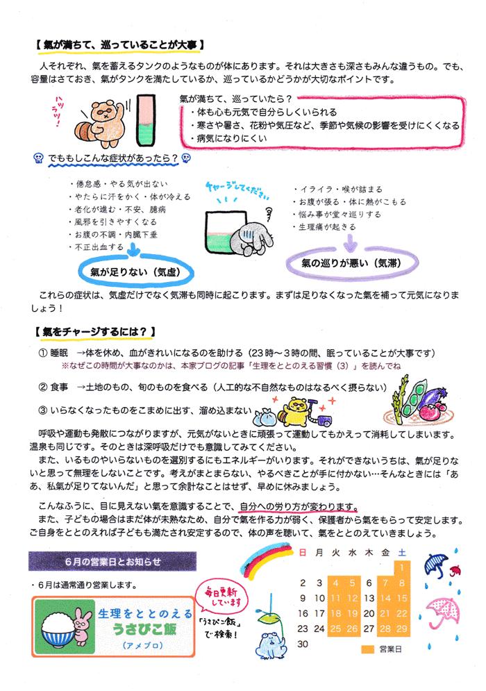うさぴこレター201906裏