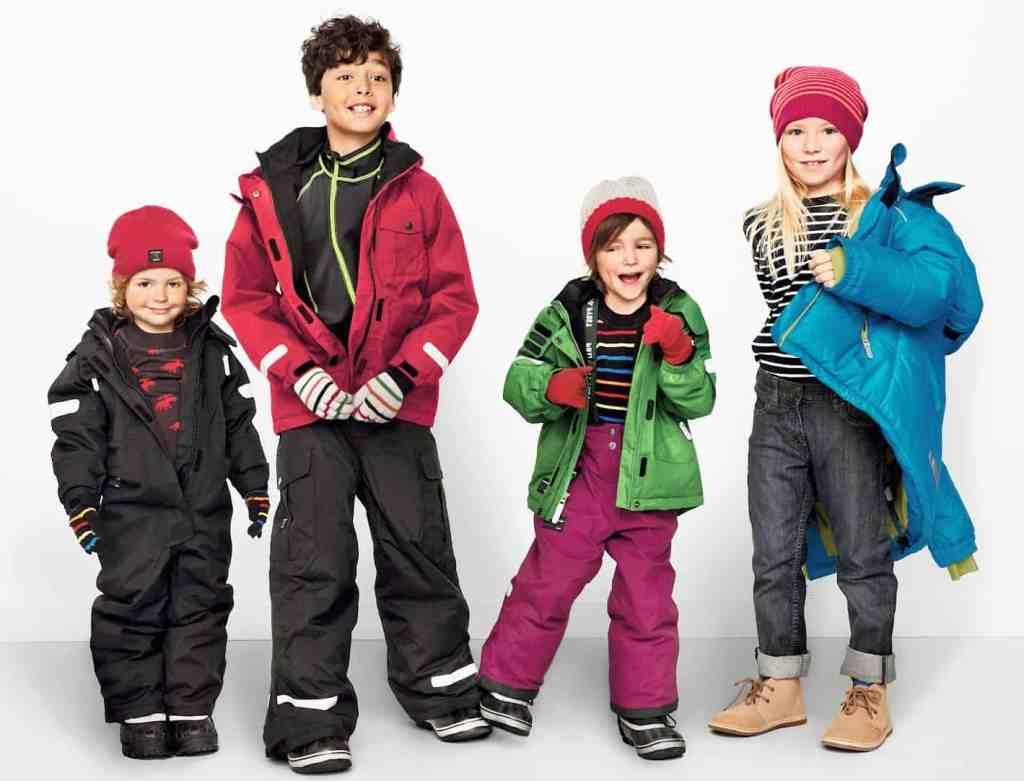 Зимняя детская одежда из США