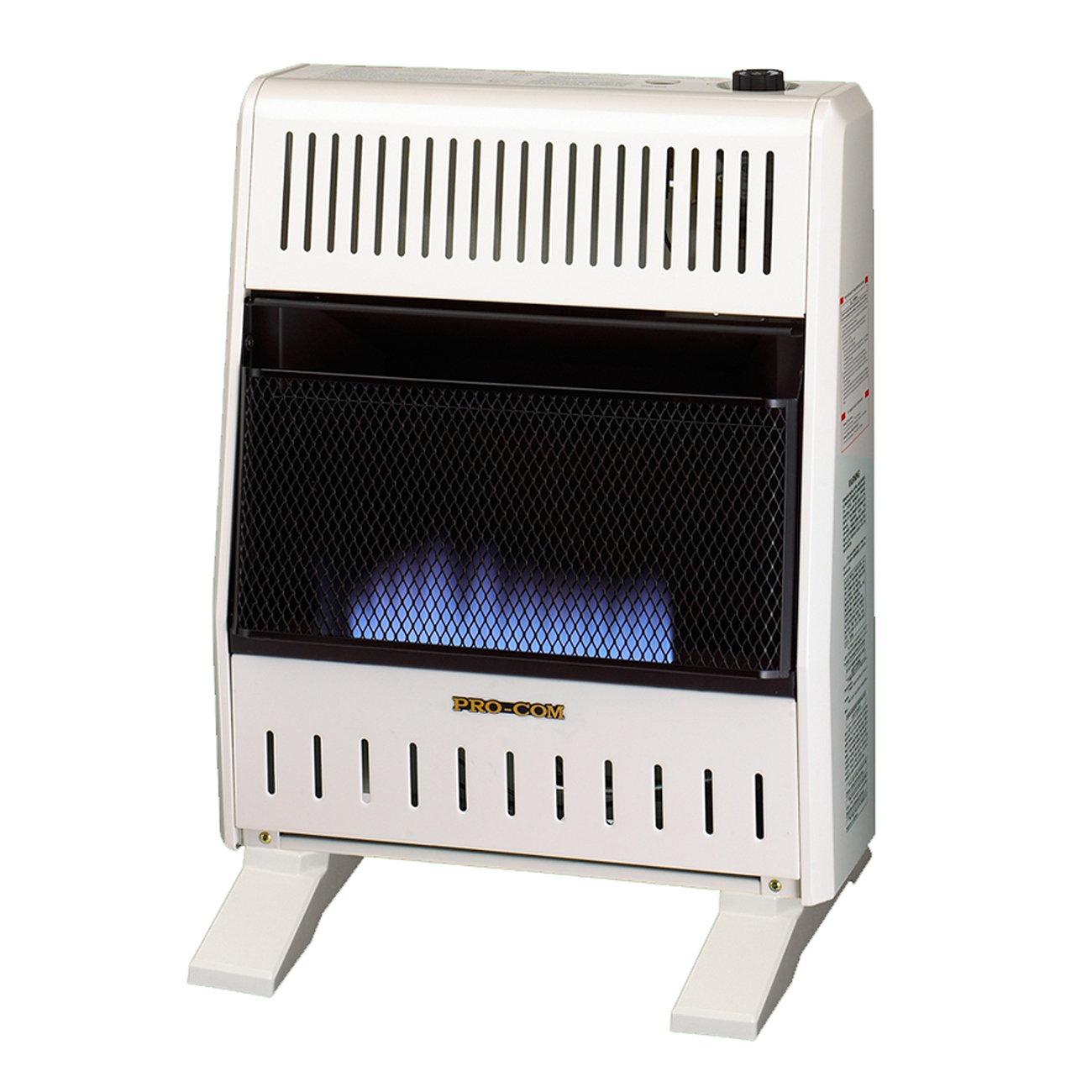 Dual Fuel Blue Flame Ventless Wall Heater  20,000 Btu