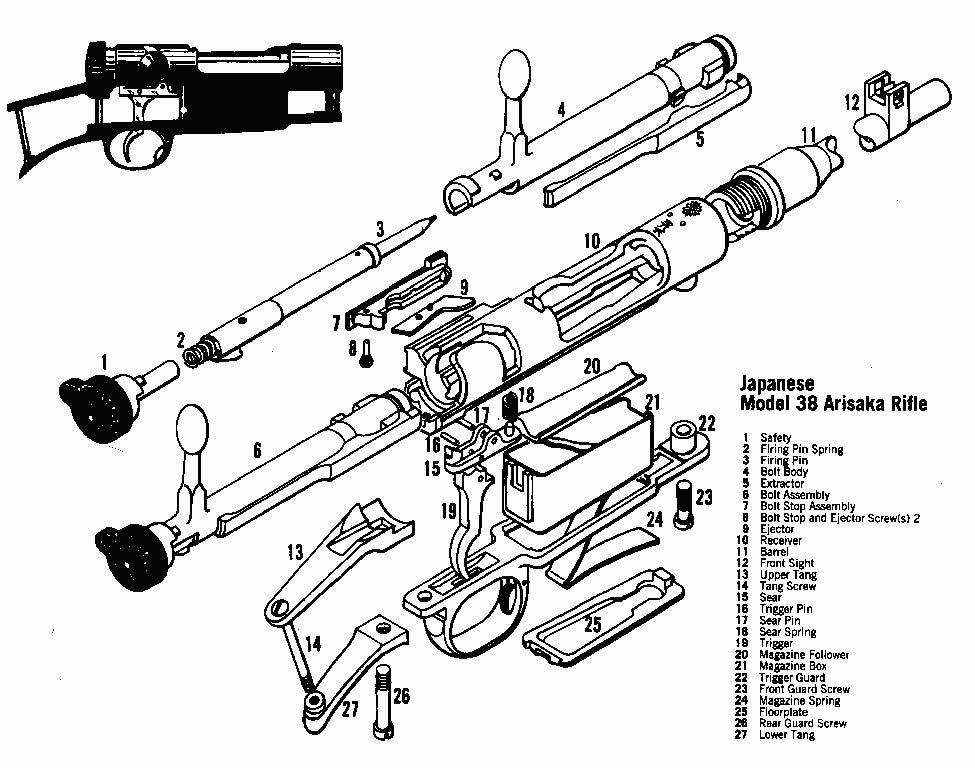 Arisaka Parts Schematic, Arisaka, Free Engine Image For