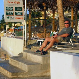 Doug Kalesnikoff relaxes after a hard day of forensic accounting in Grand Cayman.
