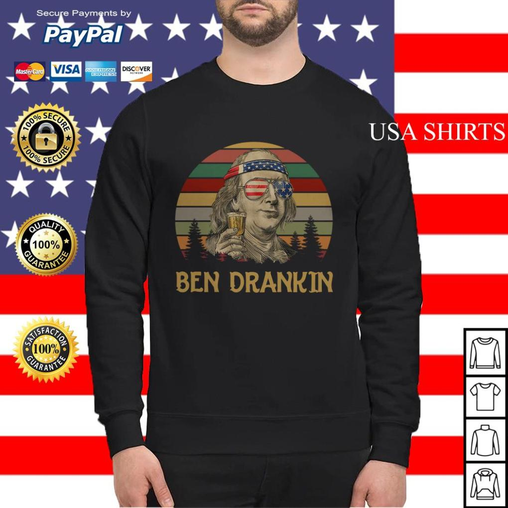 Ben Drankin beer 4th Of July vintage Sweater