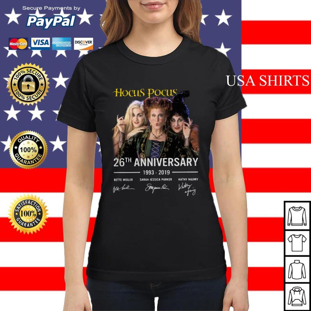 Hocus pocus 26th Anniversary 1993 2019 Bette Midler Ladies tee