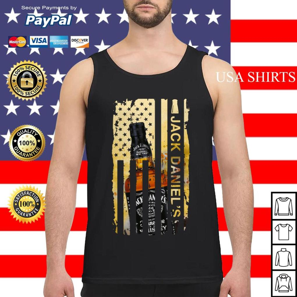 Jack Daniels flag America Tank top