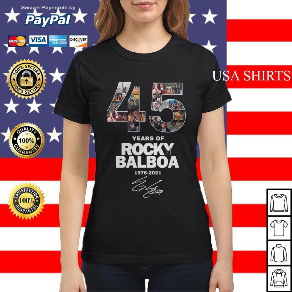 Official 45 years of Rocky Balboa 1976 2021 Ladies tee