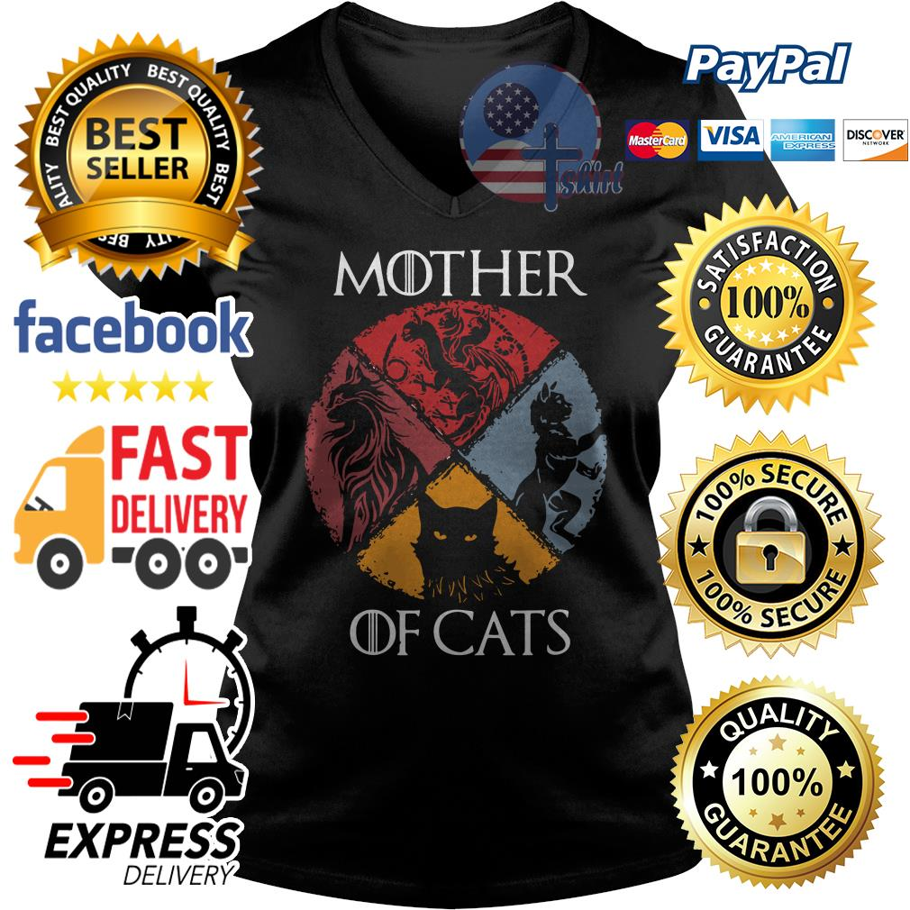 Official Mother of cats Game of Thrones V-neck t-shirt
