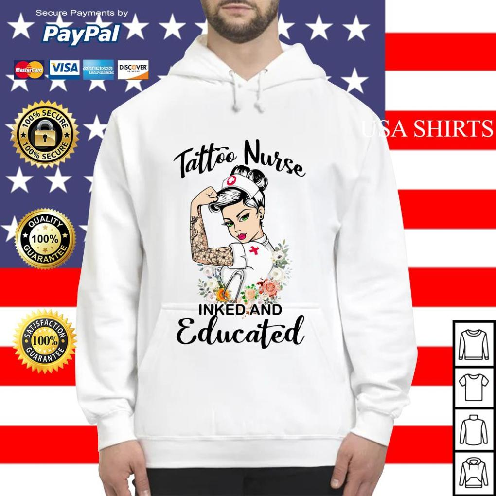 Strong woman tattoo nurse inked and educated Hoodie