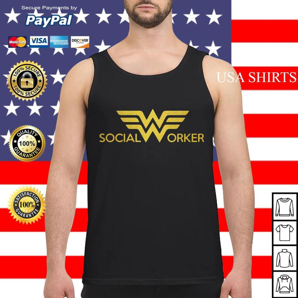 Wonder woman social worker Tank top