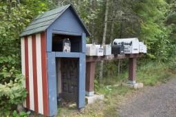 Mailboxes along Gun Flint Trail, MN www.usathroughoureyes.com