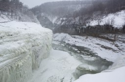 Middle Falls Ice Formation, Letchworth State Park, Castile, NY. www.usathroughoureyes.com