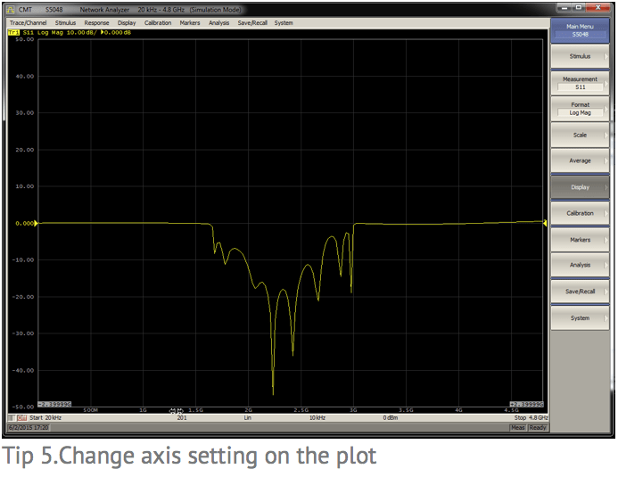 Tip 5: Change axis setting on the plot
