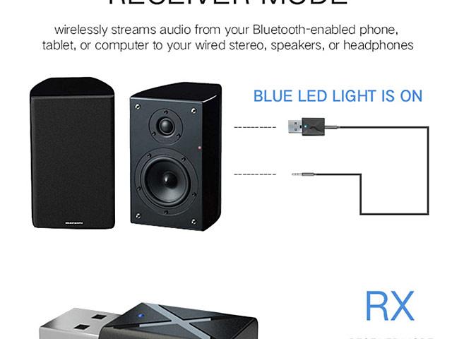 2-In-1 Bluetooth v5.0 USB Adapter