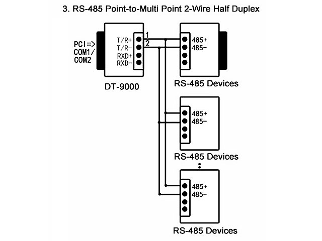 Passive RS232 to RS485 Converter
