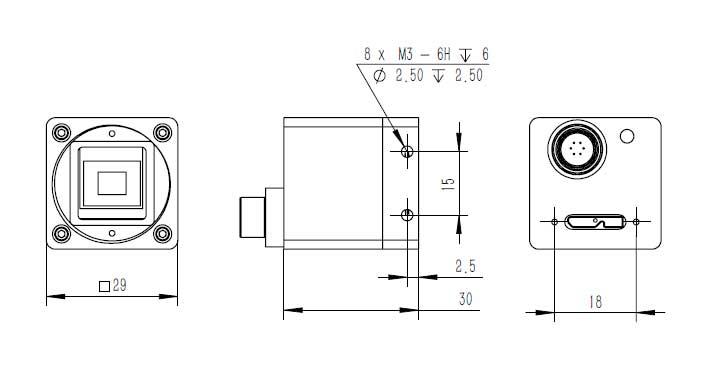 SU3CG2M-180F USB3.0 industrial camera module global