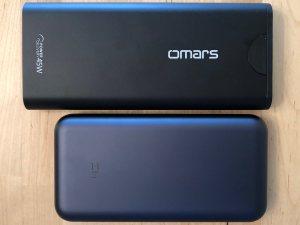 Top: Omars PowerSurge 20000 45W USB-C PD. Bottom: ZMI QB820.