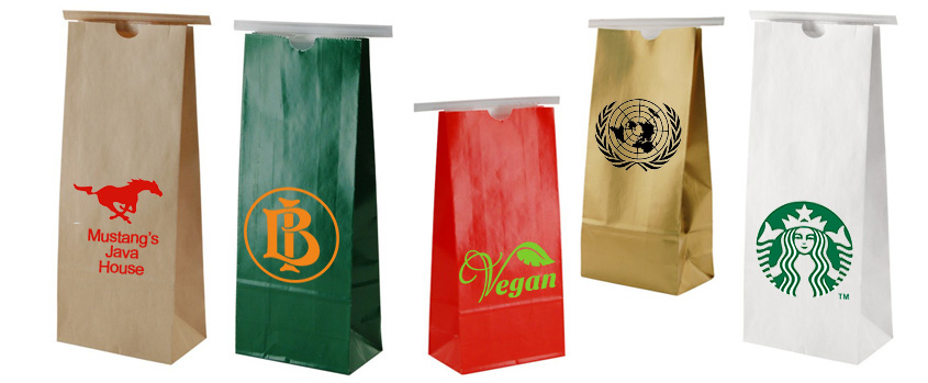 Custom Printed Coffee Tin Tie Bags  US Box Corp