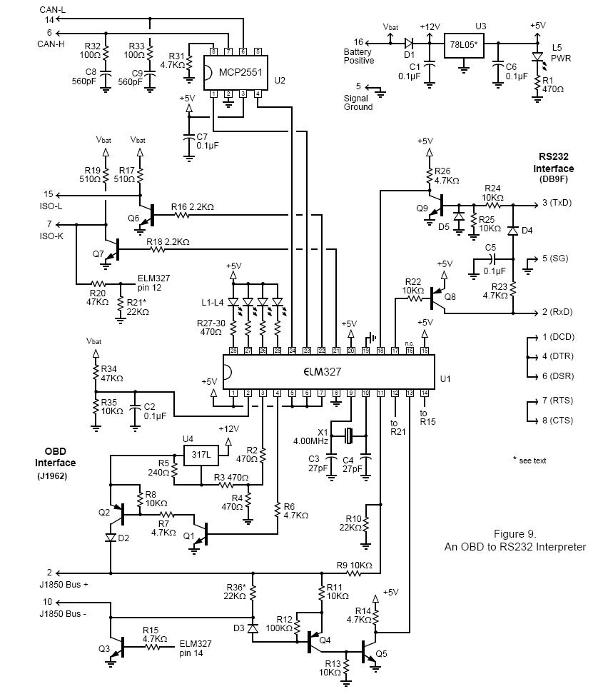 obd2 port wiring diagram