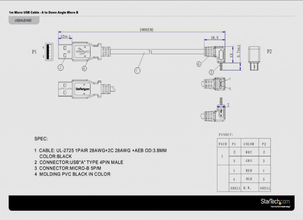 on male hdmi cable wiring diagram