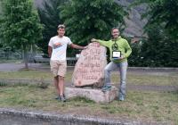 Giorgio terzo alla Val Barbora marathon