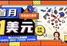 【收卡即用,可以注册GV】中国电信美洲卡促销:首月1刀,可只用1个月