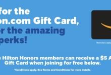 Hilton | 新用户注册送$5 Amazon eGC,入住两次再送5K积分