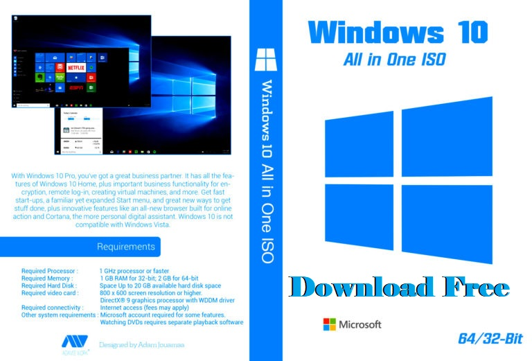 Windows 10 All in One Disc Image (ISO File) Download [Latest Updated 2021 Version 21H1 & 21H2] x64 x86