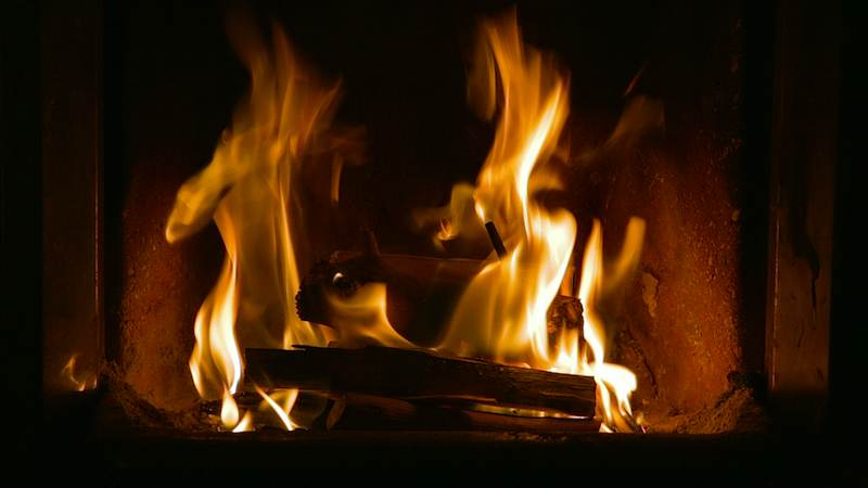 Virtual Fireplace with real soothing flames for HD TV or any PC