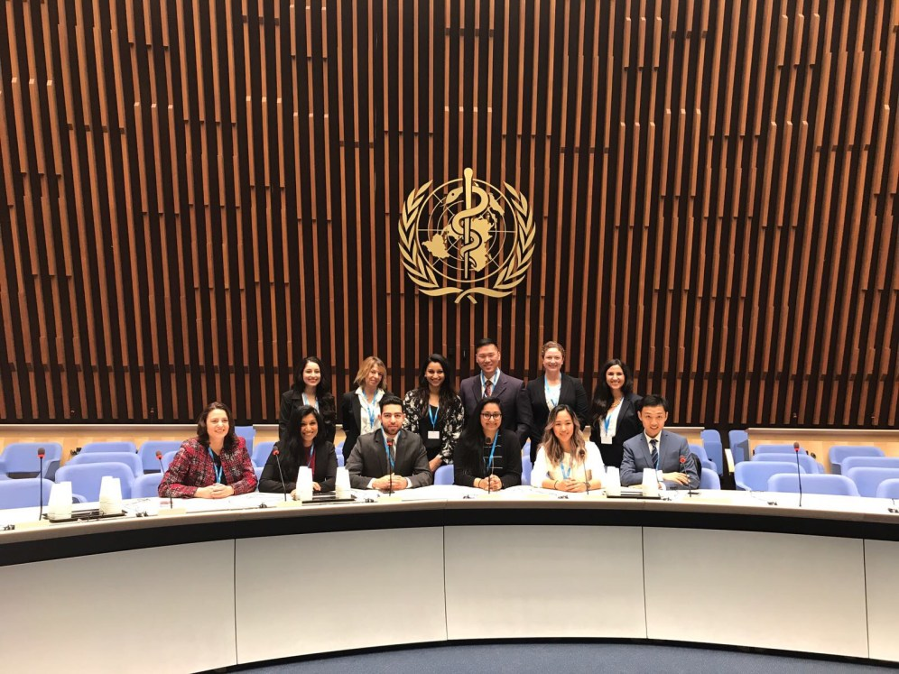 Our visit to the executive board of the World Health Organization