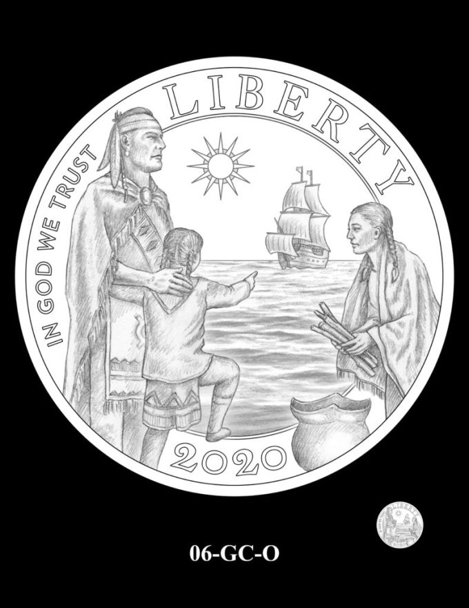 Mayflower Gold Coin Obverse