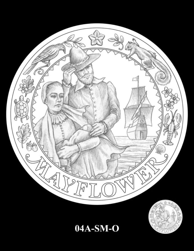 Mayflower Silver Coin Obverse