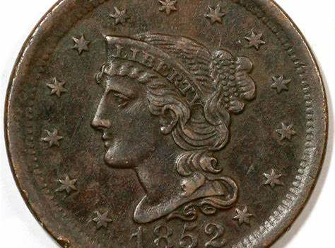 1852 Braided Hair Cent