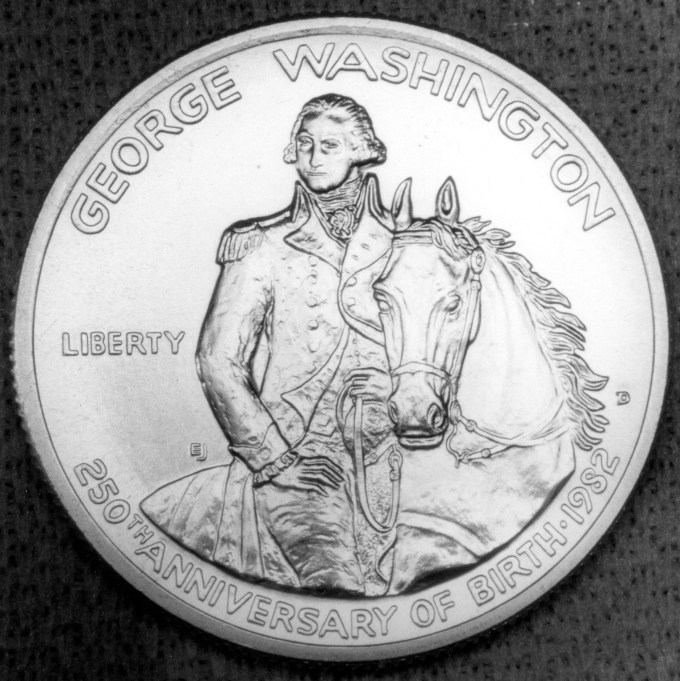 1982 George Washington Commemorative Clad Half Dollar Proof Obverse
