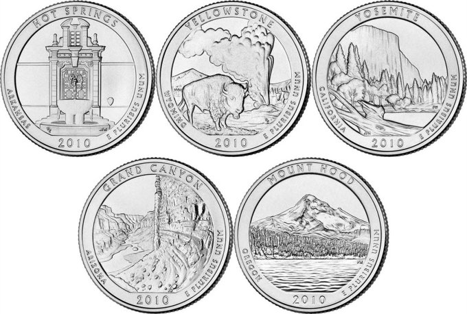 2010 America The Beautiful Quarter Set