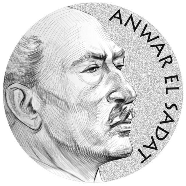 Anwar El Sadat Congressional Gold Medal Obverse