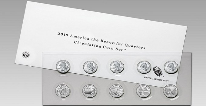 2019 America the Beautiful Quarter Set
