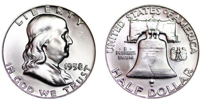 1958-D Franklin Half Dollar